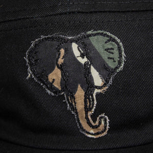 Elephant 5 Panel Cap (Black Camo)