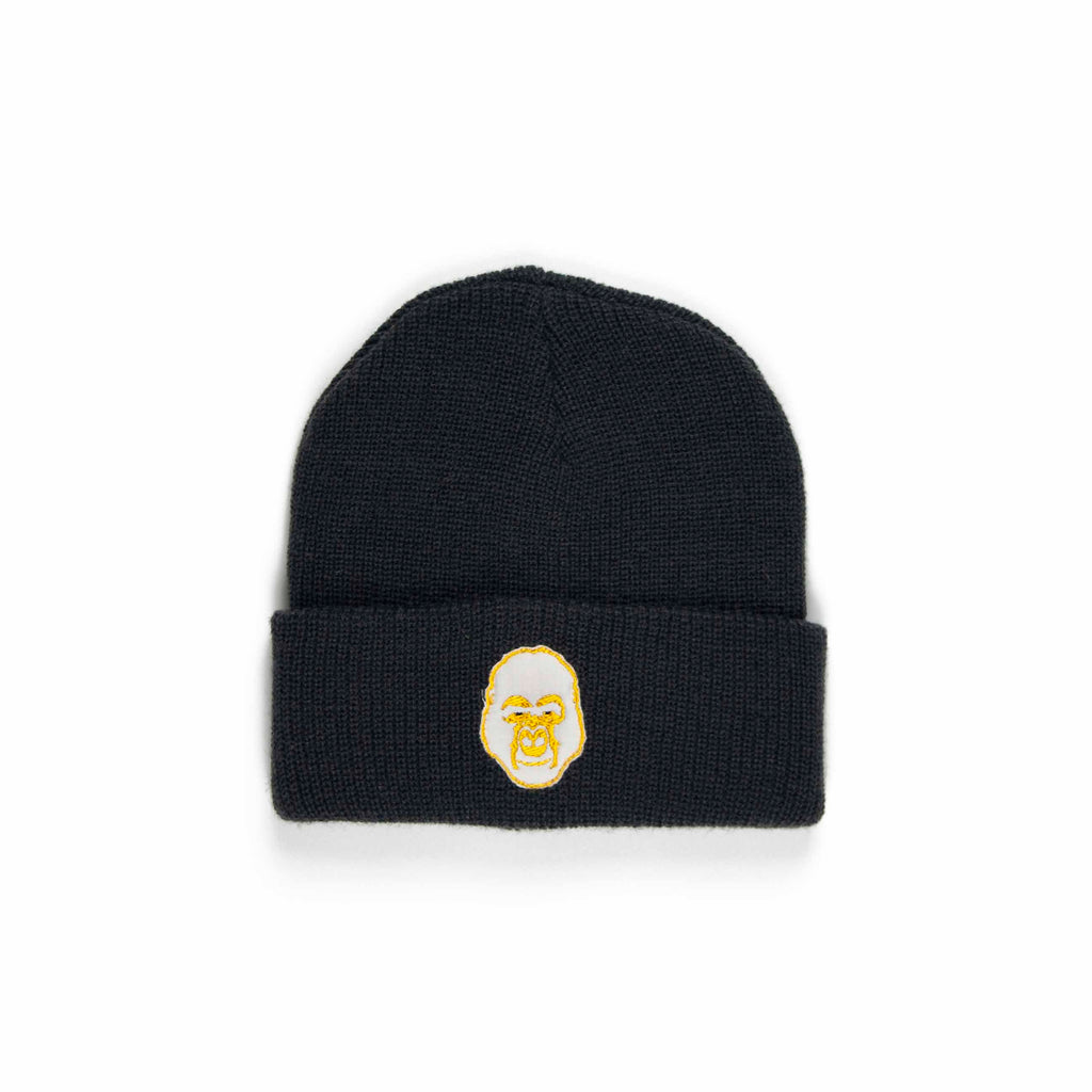 Gorilla Beanie (Dark Grey + White)