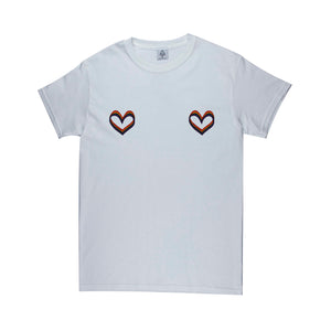 Pride Hearts A8 Tee (white or ash)