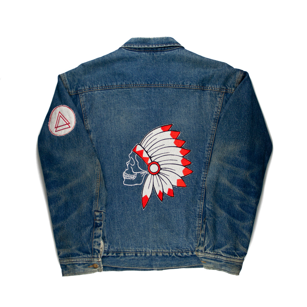 Skull Headdress D1 Vintage Jacket