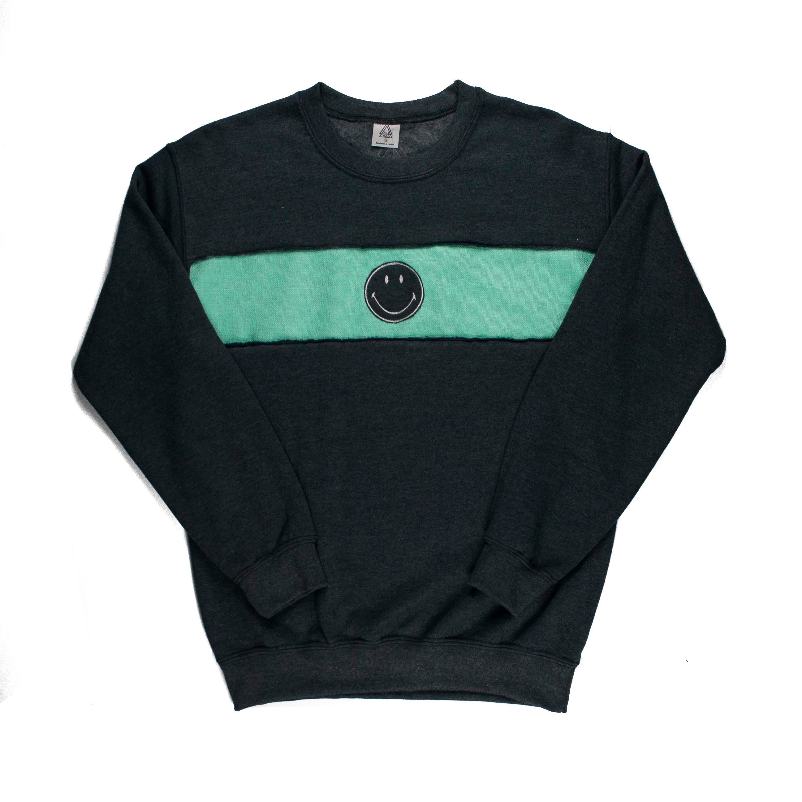 Smiley Face B3 Band Sweatshirt (Grey, Mint)