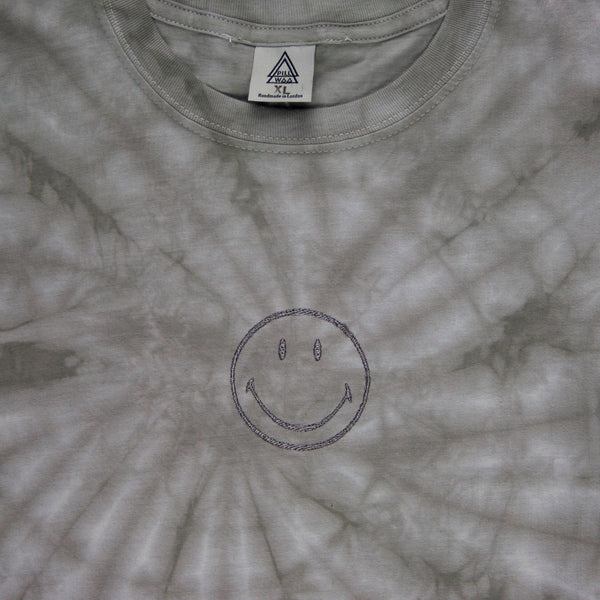 Smiley Face B4 Tee (Grey Tie Dye)