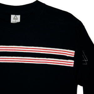 Striped Top (Black, Red, White)