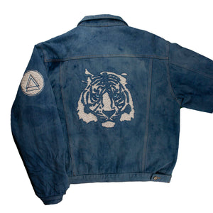 Tiger D1 Vintage Jacket (Denim, White)