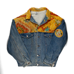 Yellow Aztec Panel Vintage Jacket