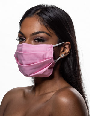 Organic Cotton Face Mask with Filter Pocket and Nose Wire
