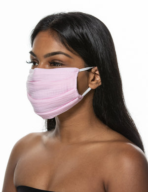 Breathable Organic Face Mask with Filter Pocket and Nose Wire - Best Face Mask for Glasses Wearers