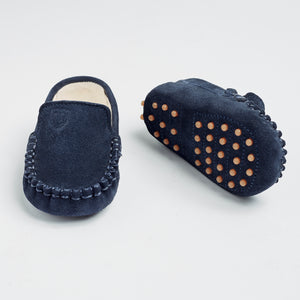 TOT Baby  Moccasins-Royal Blue