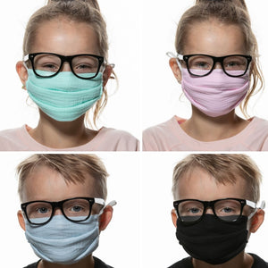 Breathable Organic Kids  Face Mask with Filter Pocket and Nose Wire - Best Face Mask for Glasses Wearers