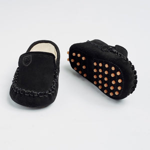 TOT Baby  MOCCASINS-Midnight Black