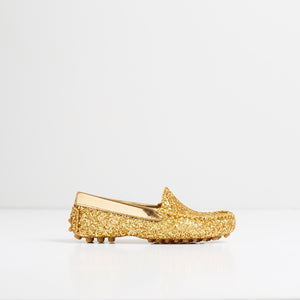 TOT  Moccasins Gold Glitter
