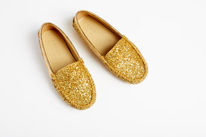 TOT  Moccasins -Glitter Gold