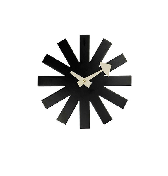 Asterisk Clock - Black - Reproduction