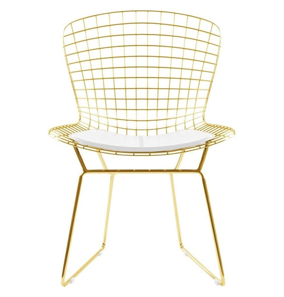 Bertoia Wire Chair - Gold Version - Reproduction