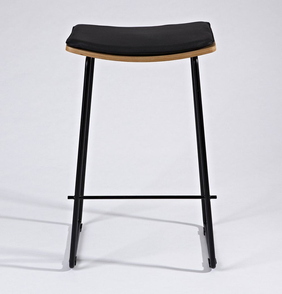 Zoe Counter Stool w/ Leather Cushion