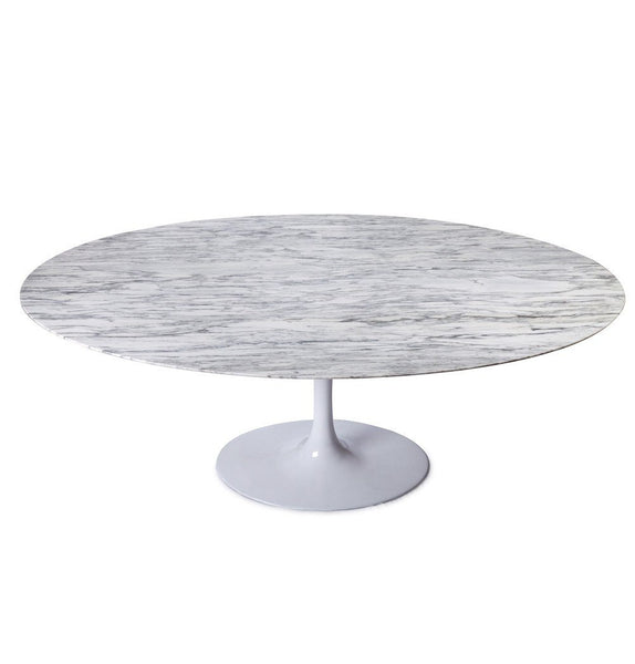 Tulip Dining Table - Oval - Marble Top - Reproduction