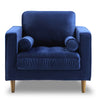 Bente Tufted Velvet Lounge Chair - Blue