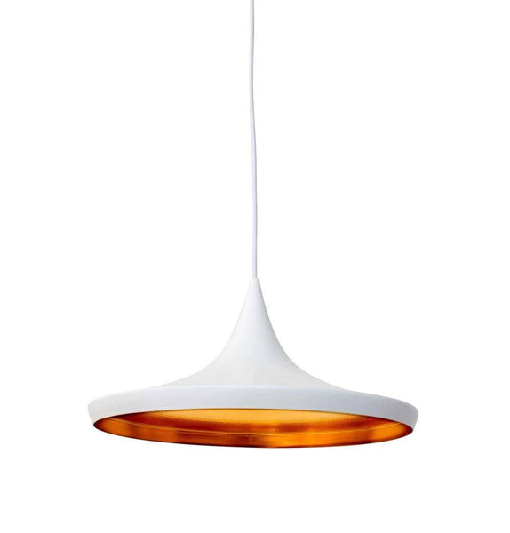 Beat Shade Wide Pendant Lamp - White - Reproduction