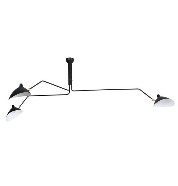Serge Three-Arm Pendant Lamp - Reproduction