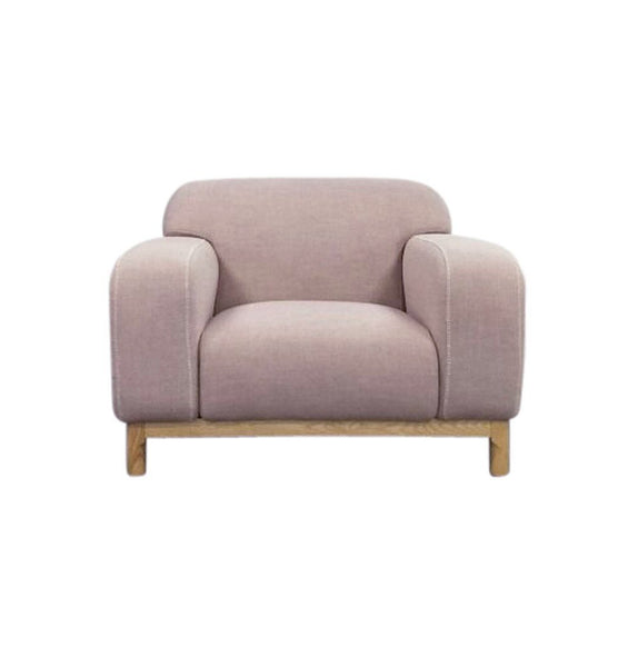 Elsa 1-Seater Lounge Chair - Light Pink