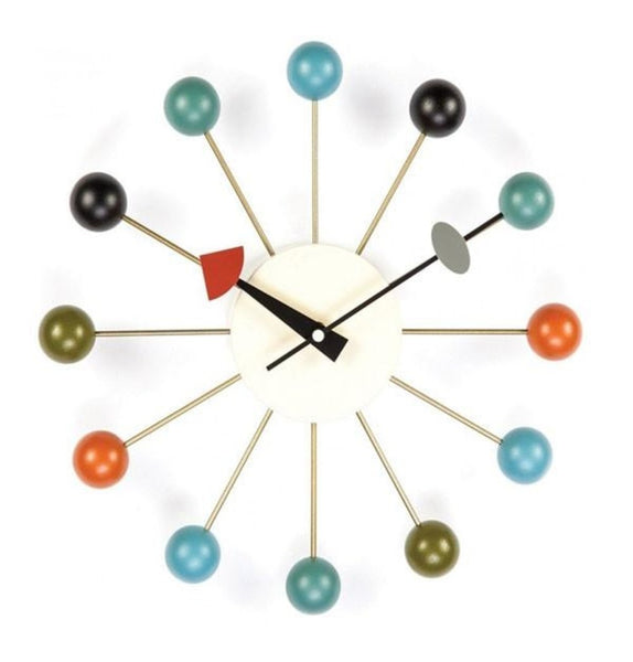 Ball Clock - Multicolor - Reproduction