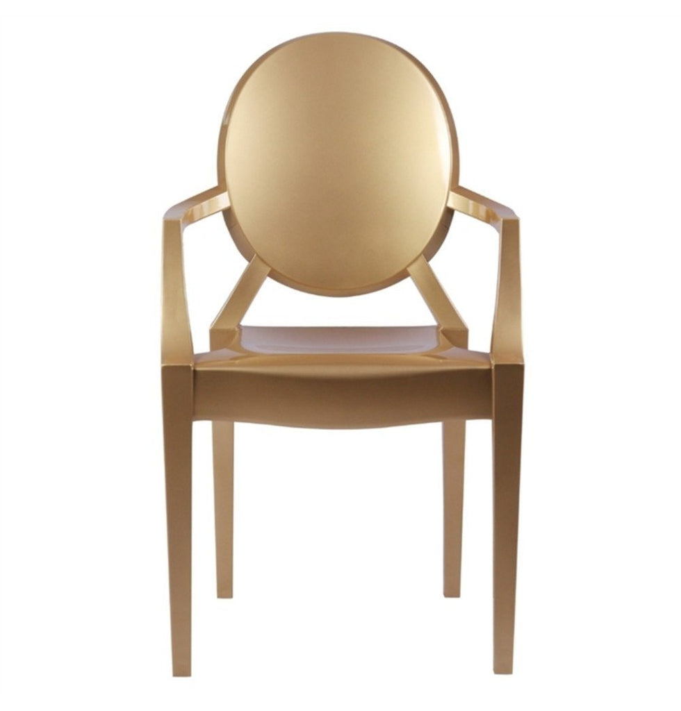 Louis Ghost Armchair - Gold Version - Reproduction