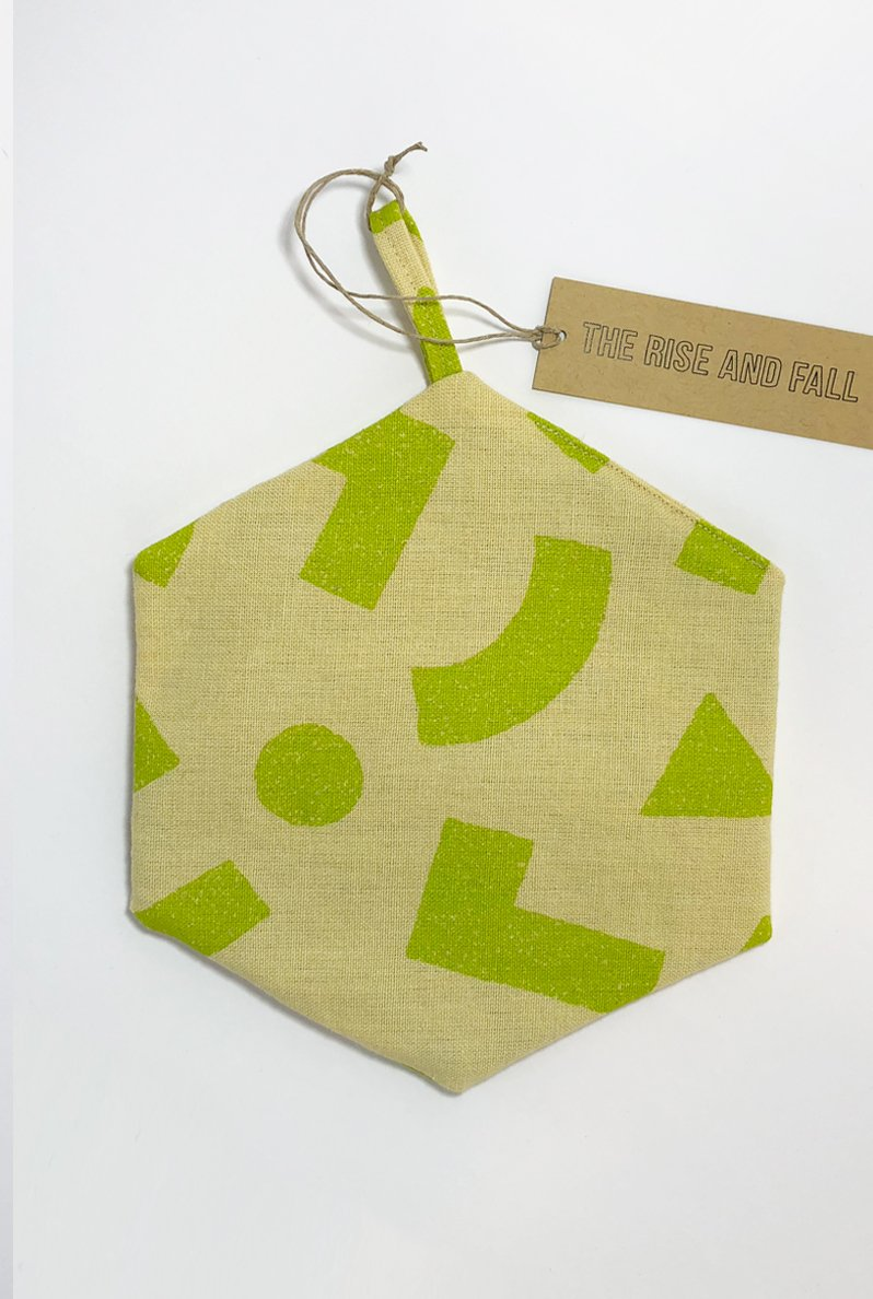 The Rise And Fall - Blocks Trivet - Yellow