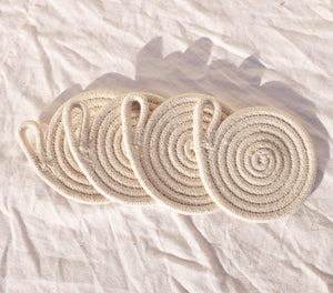 White Rope Coasters