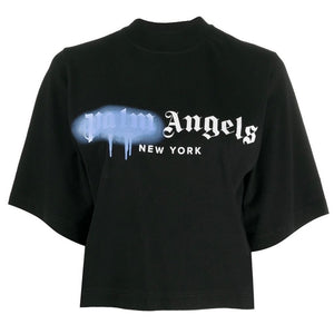 Palm Angels Blue Spray Tee