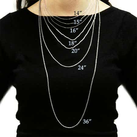 women necklace size