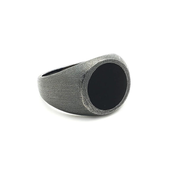 Round Shape Stone Ring - Sterling Silver - Roano Collection