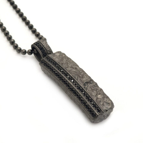 Black dog tag men necklace
