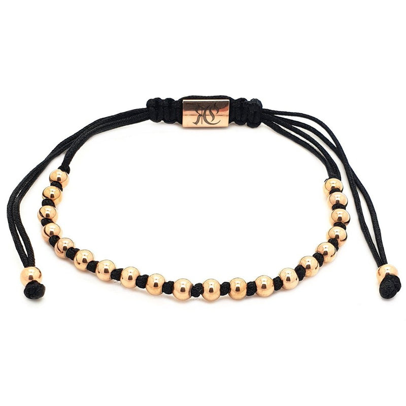18k Rose gold plated Alternated Mini Ball Macrame - Roano Collection