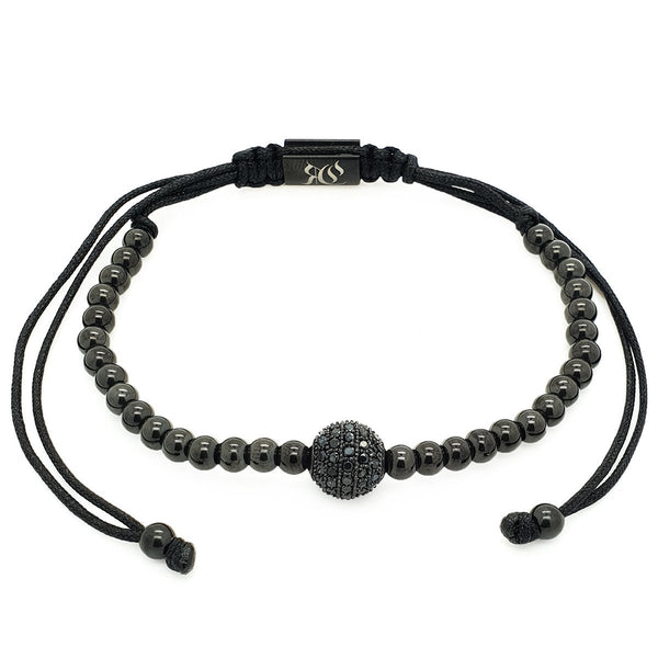Rhodium Ball Bracelet