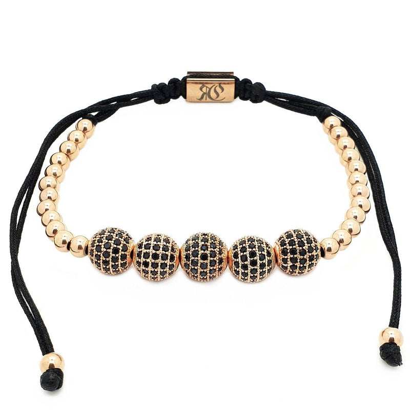 Five Disco Ball rose gold bracelet