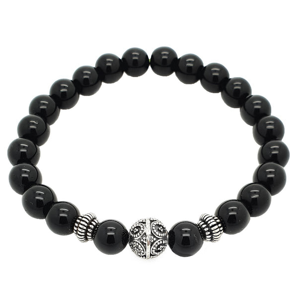Elegant Onyx Beaded Bracelet - Roano Collection