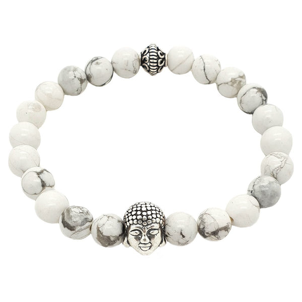 Buddha Semi-Precious Stones Bracelet - Sterling Silver - Roano Collection