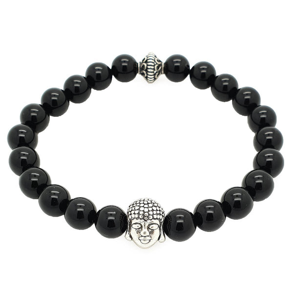 Buddha Onyx Stones Bracelet - Sterling Silver - Roano Collection