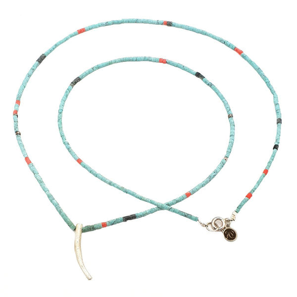 Mix Strand Feather Necklace - Sterling Silver - Roano Collection