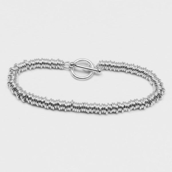 Circles Link Bracelet - Sterling Silver - Roano Collection