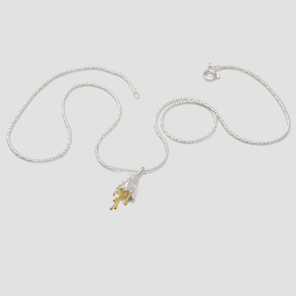 Flower Silver necklace