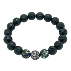 Mother of Pearl & Onyx Beaded Bracelet Women bracelet Roano Collection
