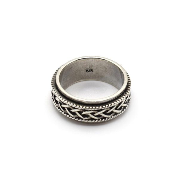 Celtic Spin Silver Men Ring