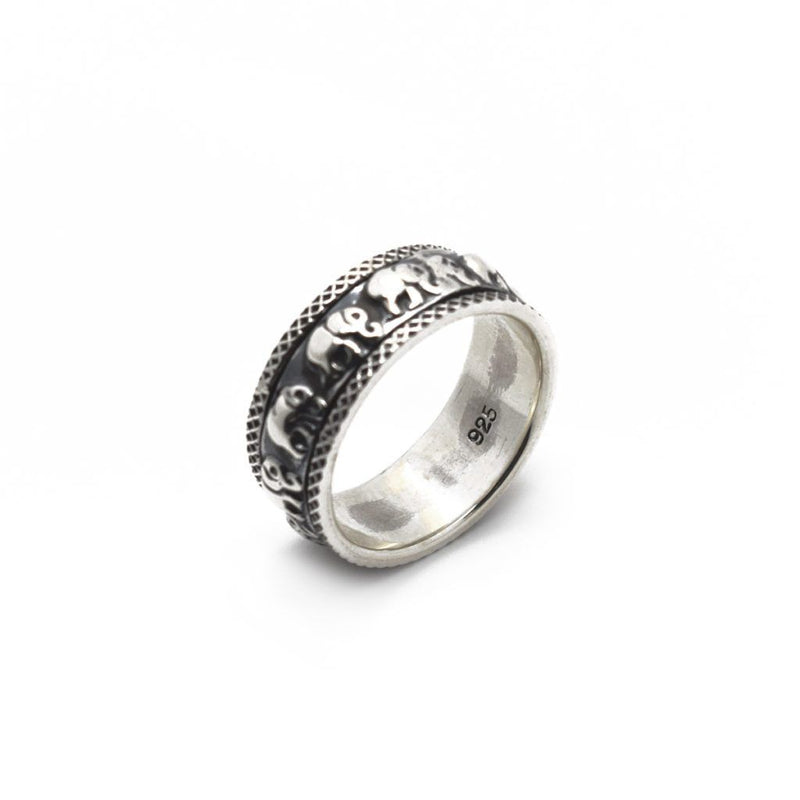 Elephant Spin Silver Ring - Roano Collection