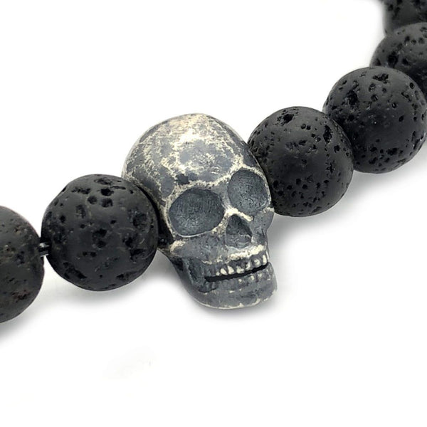 Raw Skull with Lava Stones - Roano Collection