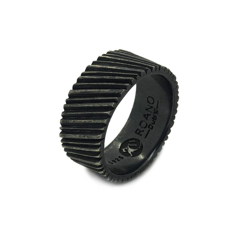 The Track Oxidised Ring - Sterling Silver - Roano Collection