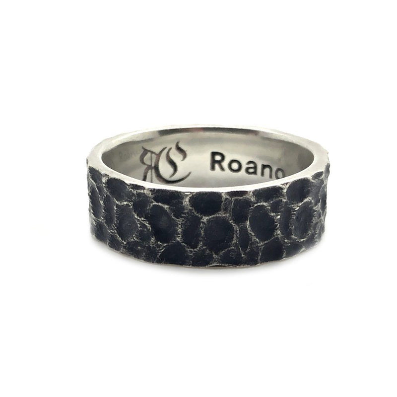 Just like Moon Hammered Men Silver Ring - Roano Collection