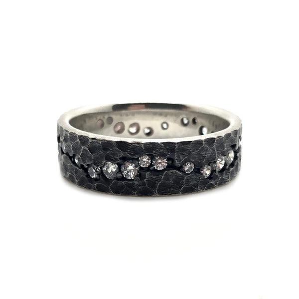 The Moonlight Ring - Sterling Silver Sterling Silver Rings Roano Collection