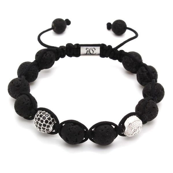 Signature Black Shamballa – Sterling Silver - Roano Collection