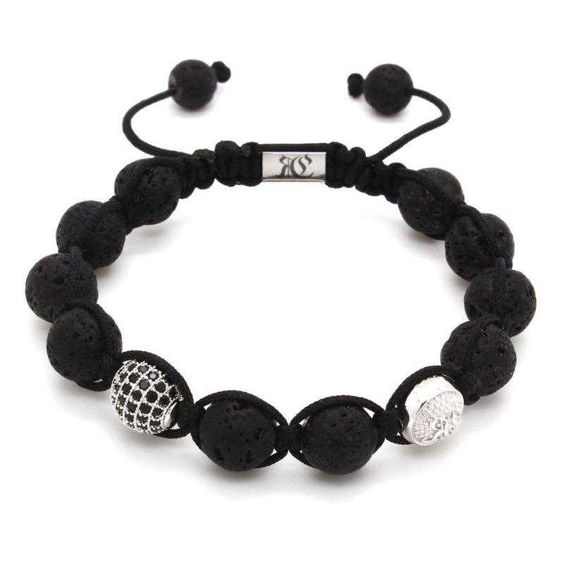Signature Lava Stones Shamballa Bracelet - Roano Collection
